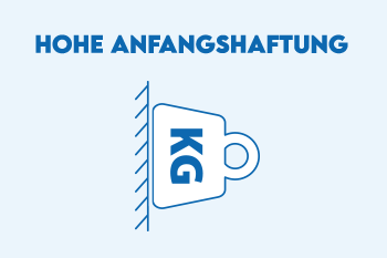 Hohe Anfangshaftung