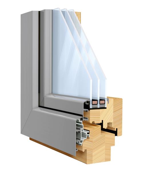 Scheiben in Fensterflügel aus Holz‑Alu kleben