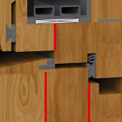 Holzkantelklebung Schnittzeichnung