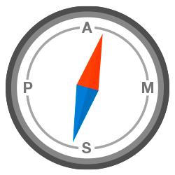 Klebstoff-Kompass