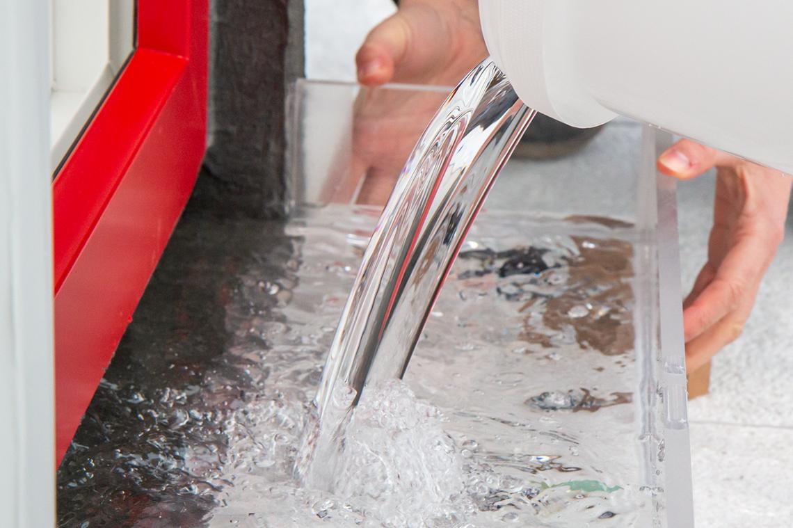 Baukörperanschluss mit Stauwasserschutz